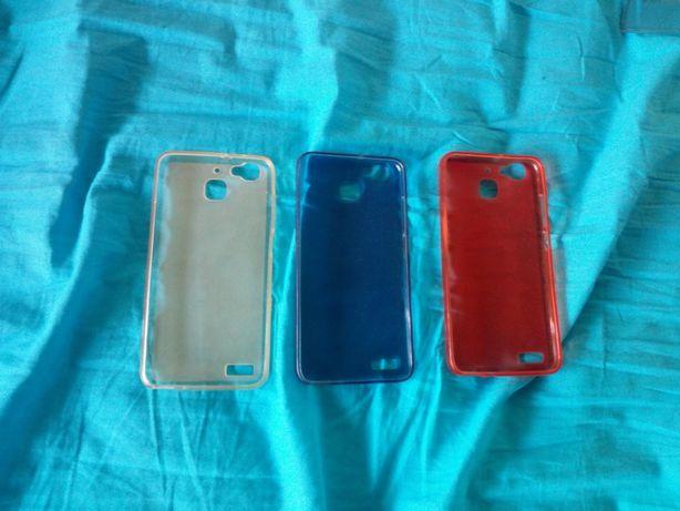 Conjunto capas smartphone silicone para Huawei GR3