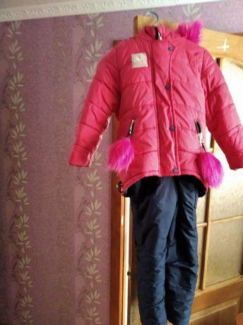 Зимний костюм на  рост до 130