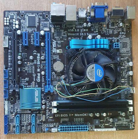 материнская плата p8h61-m pro  + i3-2120 3.3 Ghz + 4 Gb DDR3 GoodRam