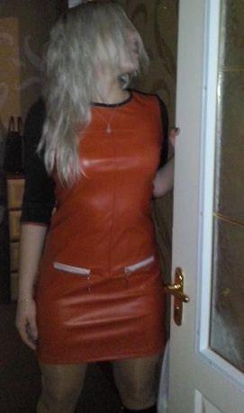 Модное платье эко-кожа.размер 42-46.для стильной модницы