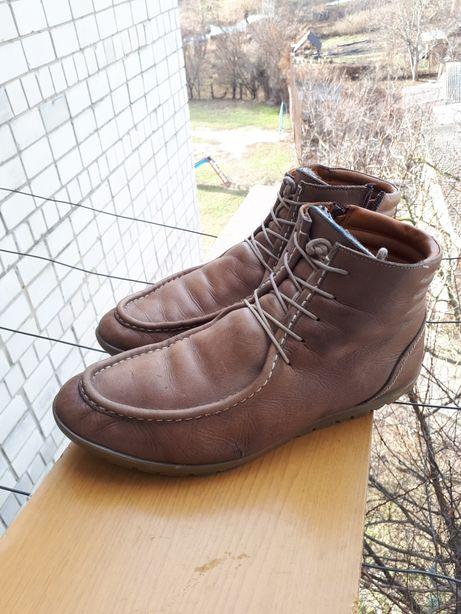 Зимняя обувь ботинки сапожки зимние зимові ботінки сапоги кожа 42р