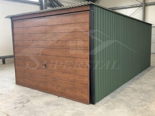 Garaż blaszany akryl 3x5 Brama Drewnopodobna CAŁA POLSKA