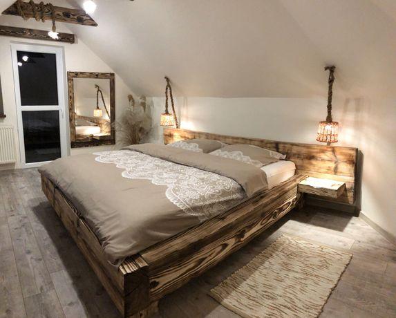 Łóżko drewniane jodłowe Sypialnia 180x200cm