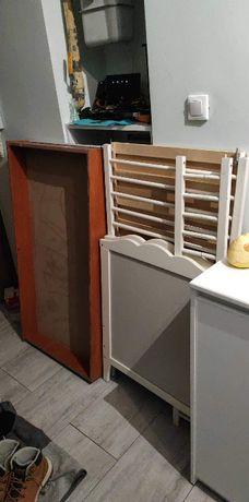 Łóżeczko białe IKEA 120x60 może być dostawne