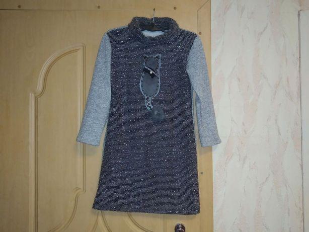 Тепленькое платье на рост 140-146