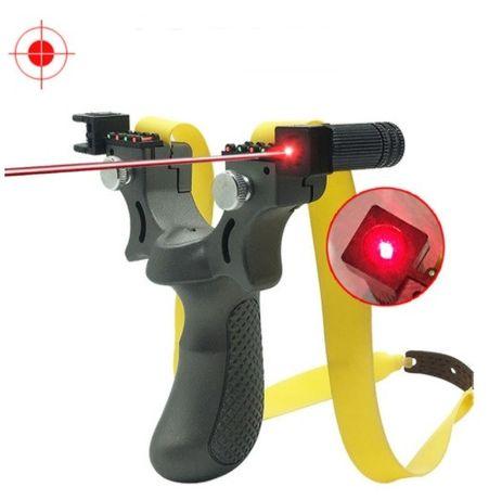 Рогатка спортивная охотничья с лазерным прицелом для прикормки рыбалки