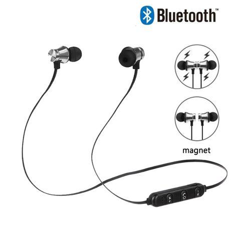 Słuchawki stereo 3D bluetooth bezprzewodowe magnetyczne HIT MOC! niebi
