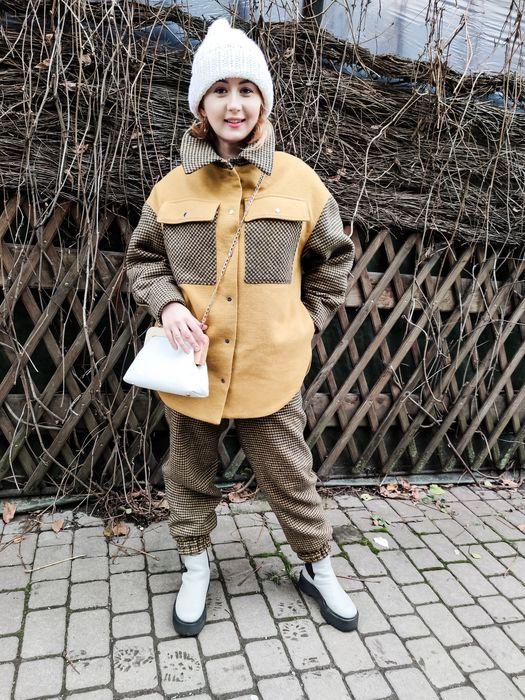 Зимний костюм, Пальто- рубашка и брюки Винница - изображение 1