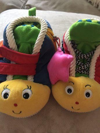 Тапочки ботиночки мягкие игрушка