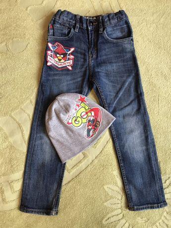 Джинсы с Angry Birds H&M для мальчика 3-4 года 104 см