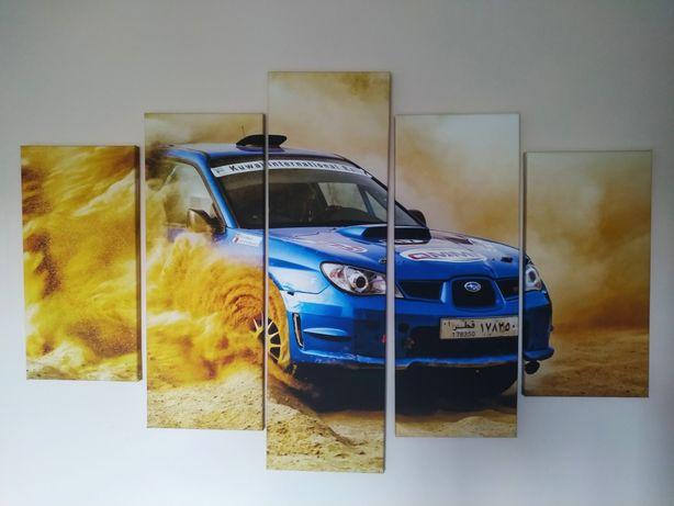 Obraz Subaru 5 elementów tryptyk