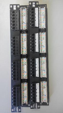 Продам патч-панели сетевые AMP на 24 порта (rj-45), компьютерные