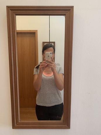 Espelho, moldura de madeira