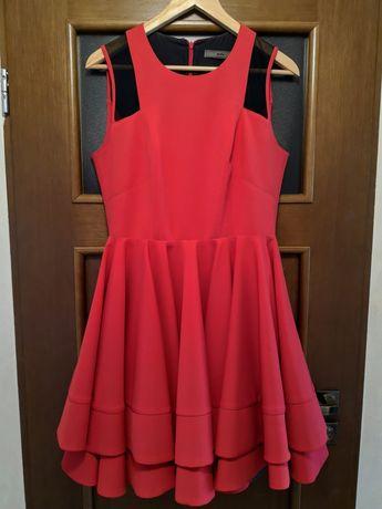 Czerwona sukienka 40 na wesele/ studniówkę/ chrzciny