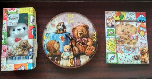 """Подарок! Набор для детской """"Teddy Bear""""+рисунки/картины"""