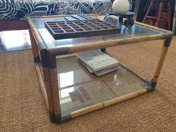 mesa, centro,  apoio,  bambu, oriental, rustico