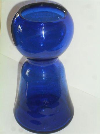 Stary wazon hiacynt szkło kolorowe z bąbelkami powietrza Horbowy