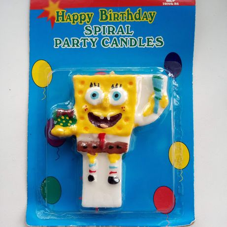 """Свеча в торт """"Губка Боб"""" украшение для праздничного торта свечка"""