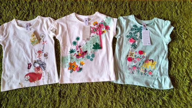 C&A bluzeczki z krótkim rękawem 134