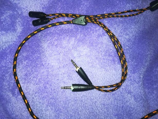 Kabel przewód do słuchawek dla gracza