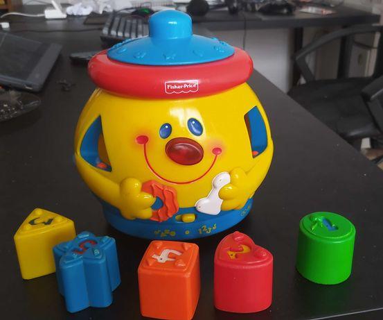 Zabawka interaktywna Fisher Price  Garnuszek na klocuszek