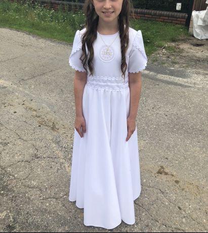 Sukienka komunijna alba 146 cm stan idelany
