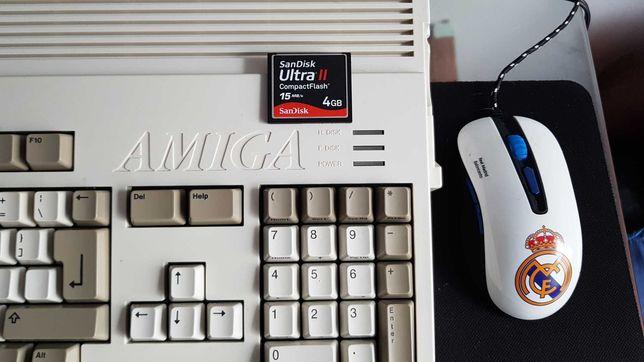 Karta CF do Amiga 6oo SanDisk 4GB + tasiemka ide