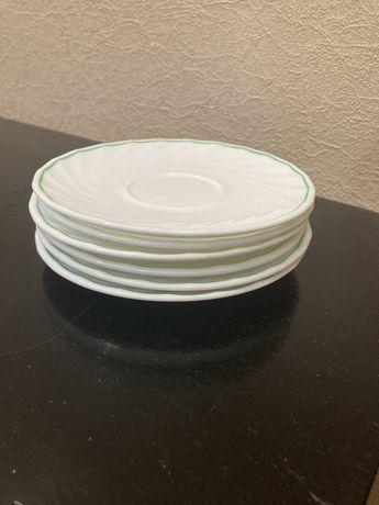 Классические белые блюдца Luminarc 6 штук