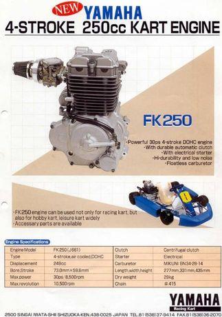 Peças motor kart Yamaha FK250