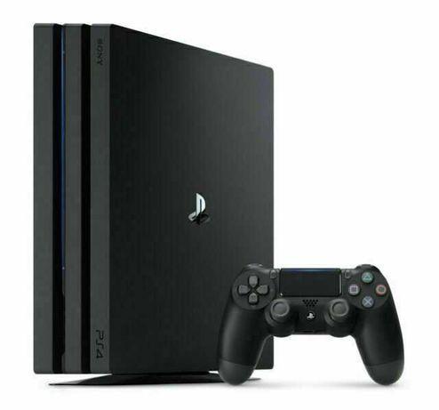 PS4 PRO 1TB Preta + 1 Comando + 3 Jogos - Usado