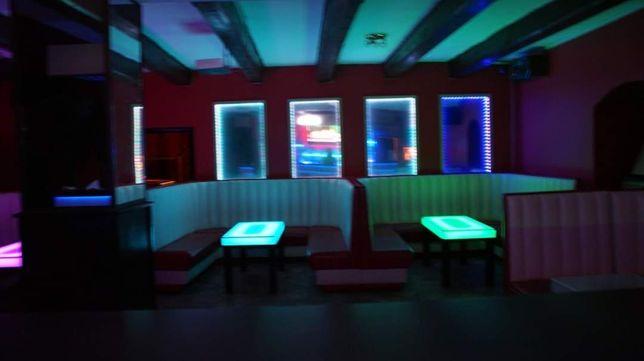 Stoliki Ledowe RGB 4 sztuki. Szkło hartowane