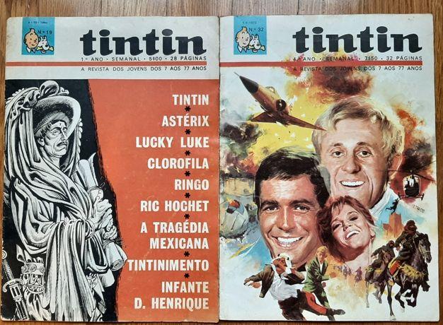 """Revistas """" Tintin """" Vários anos e 11º ano completo - Colecionadores"""