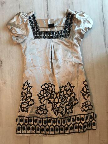 Атласное, праздничное платье