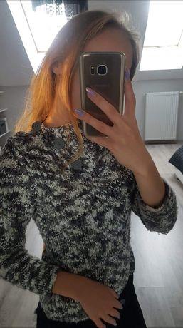 Sweterek szaro-bialy