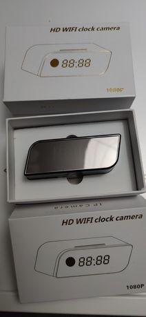 Mini kamera szpiegowska HD WIFI clock camera 1080 P