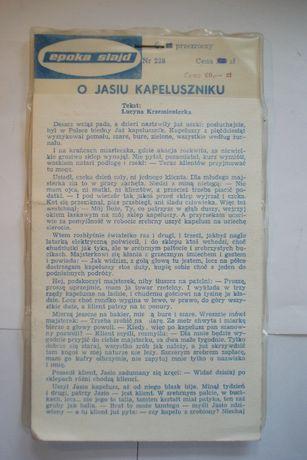 Epoka Slajd - Slajdy do rzutnika z bajką - O Jasiu Kapeluszniku .