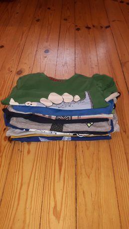 12 sztuk koszulek firmowe jakość jak nowe rozm. 110 chłopięce paka