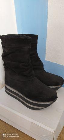 Сапоги/ботинки зимние замша