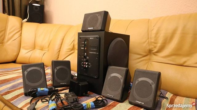 Głośniki 5.1 kino domowe Creative inspire p5800+ karta dźwiękowa usb