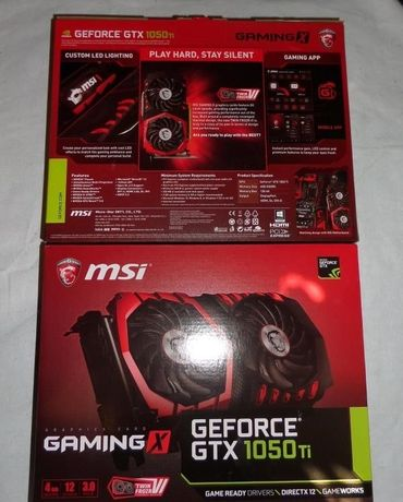 Видеокарта MSI GeForce GTX 1050 TI 4 GB