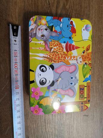 Puzzle dla dzieci 100 zoo liczby gratis jednorożec