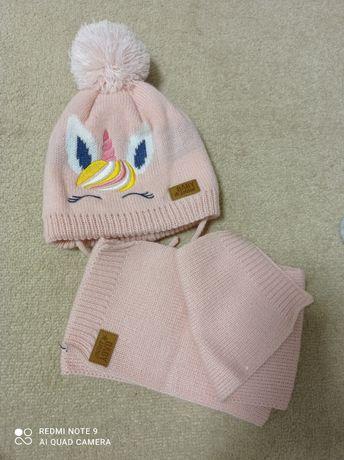 Nowa czapka i szalik 3-6 miesięcy