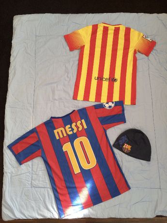 Koszulki piłkarskie 134cm oryginalna i 140cm 8-9 lat barcelona barca
