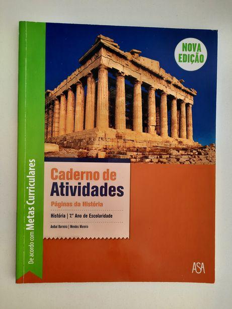 História 7ºano Caderno Atividades Paginas da História, Asa Nova Edição