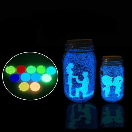 Piasek świecący fluorescencyjny do butelki 6 kolorów do wyboru