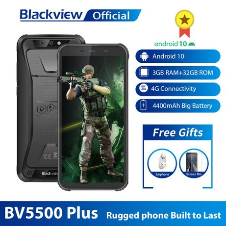 Blackview BV5500 Plus противоударный IP68 NFC 4G 4400mAh Android 10