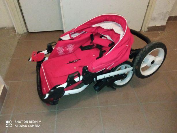 Czerwony Wózek Rainbow  dla chłopca i dziewczynki