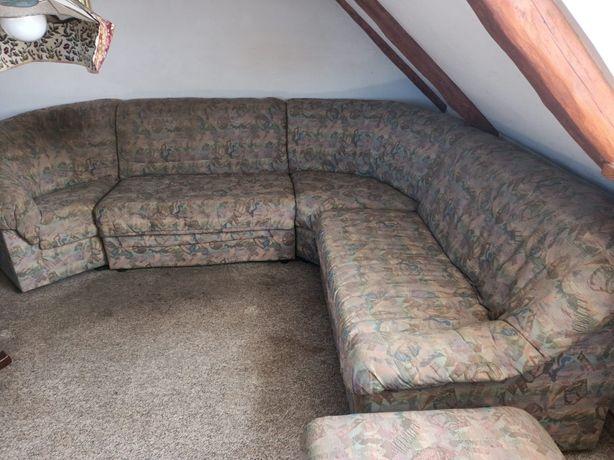 Kanapa narożnik, fotel pufa
