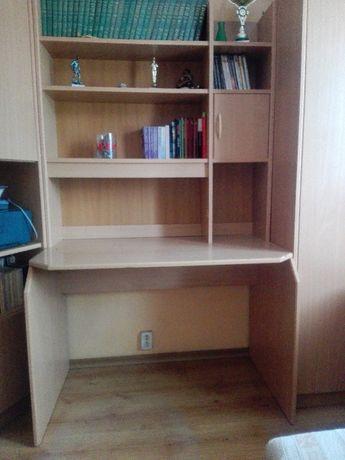 Biurko z nadstawką i szafeczką na kółkach