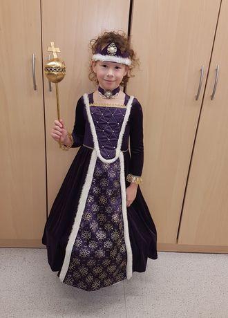 Sukienka suknia królowa bal przebierańców karnawał 104